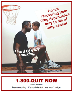 1-800-QUIT NOW poster